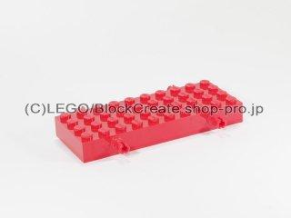 #30076 ホイール ホルダー - ブロック 4x10  【赤】 /Brick 4x10 with Wheel Holders  :【Red】