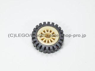 #30155/3483 ホイール センタースポーク小 (タイヤ付)  【タン】 /Wheel Centre Spoked Small :【Tan】