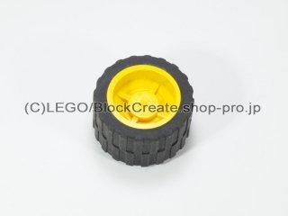 #30285/24341 ホイール ハブ 14.8x16.8 溝 (タイヤ付)  【黄色】 /Wheel Hub 14.8x16.8 with Centre:【Yellow】
