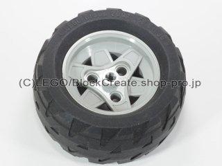 #41896/41893 ホイール 43.2x26 テクニック 3穴 (タイヤ付)【新灰】 /Wheel 43.2mm D.x26mm Small:[Light Bluish Gray]