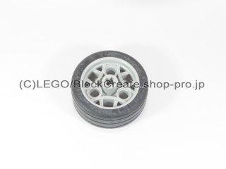 #47481 ホイール  36.8x14 ZRタイヤ  【新灰】 /Wheel 36.8x14 ZR with (non-removable) Tyre :【Light Bluish Gray】