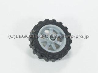 #50862 バイクホイール 15x6 (タイヤ付) 【新灰】 /Wheel Rim 14.6x6 with Spokes and Stub Axles :[Light Bluish Gray]