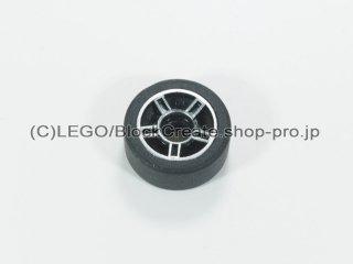 #51719/50951 ホイール 11x6 (タイヤ付)【黒】 /Rim 11.2x6.2 with Hole and Silver Spokes Design :[Black]