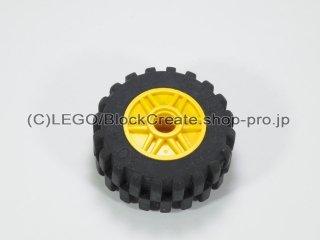 #55981/30391 ホイール 18x14 (タイヤ付) 【黄色】 /Wheel Rim 18x14 with Pin Hole :[Yellow]