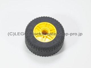 #55981/58090 ホイール 18x14 (タイヤ付) 【黄色】 /Wheel Rim 18x14 with Pin Hole :[Yellow]