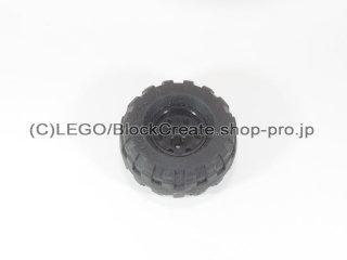 #55982/56891 ホイール 18x14 十字穴 (タイヤ付) 【黒】 /Wheel Rim 18x14 with Axle Hole :[Black]