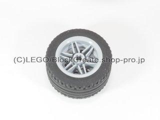 #56145/44309 ホイール 30.4x20 (タイヤ付) 【新灰】 /Wheel Rim 30x20 with No Pinholes :[Light Bluish Gray]