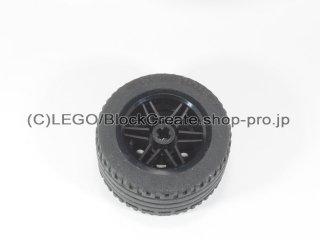 #56145/44309 ホイール 30.4x20 (タイヤ付) 【黒】 /Wheel Rim 30x20 with No Pinholes :[Black]