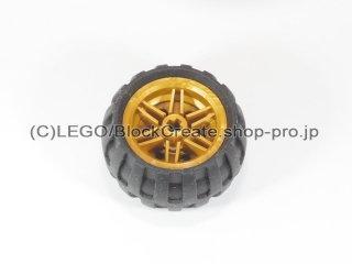 #56145/61481 ホイール 30.4x20 (タイヤ付) 【パール金】 /Wheel Rim 30x20 with No Pinholes :[Pearl Gold]