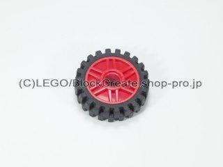 #56902/3483 ホイール 18x8 (タイヤ付) 【赤】 /Rim Narrow 18x7 and Pin Hole with Shallow :[Red]