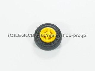 #75609 ホイール 8x6.4 (タイヤ付)  【黄色】 /Wheel Rim 8x6.4 Assembly :【Yellow】