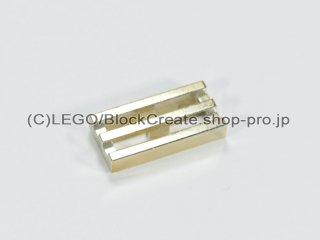 #2412 タイル 1x2 グリル【クローム金】 /Tile 1x2 Grille :[Chrome Gold]