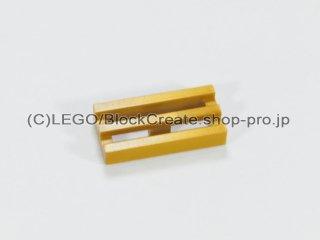 #2412 タイル 1x2 グリル【フラットダークゴールド】 /Tile 1x2 Grille :[Flat Dk,Gold]