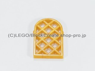 #30046 窓格子 1x2x2 2/3 ダイアモンド【パール金】 /Window 1x2x2.667 Pane Lattice Diamond :[Pearl Gold]