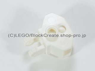 #30396 ヒンジ ロック 1x2 ボールソケット【白】 /Hinge 1x2 Locking with Towball Socket :[White]