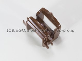 #4491 鞍 2クリップ【旧茶】 /Horse Saddle with Two Clips :[Brown]