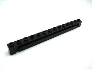 #4217 ブロック 1×14 溝つき  【黒】 /Brick 1×14 with Groove :[Black]