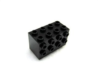 #2434 ブロック 2x4x2 3面スタッド 【黒】 /Brick  2x4x2 with Studs on Sides  :[Black]