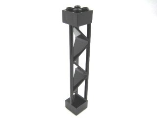 #30517 サポート 2x2x10 三角桁 縦  【黒】 /Support 2x2x10 Girder Triangular Vertical  :[Black]