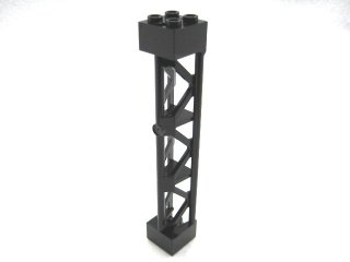 #95347 サポート 2x2x10  三角桁 縦  【黒】 /Support 2x2x10 Girder Triangular Vertical  :[Black]