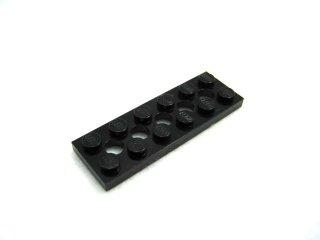 #32001 テクニック  プレート 2x6 穴あき 【黒】 /Technic Plate 2x6 with Holes  :[Black]