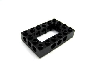 #40344 テクニック  枠ブロック 4x6  【黒】 /Technic Brick 4x6 with Open Center 2x4  :[Black]