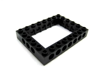 #40345 テクニック  枠ブロック 6x8  【黒】 /Technic Brick 6x8 with Open Center 4x6   :[Black]