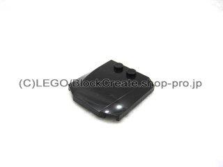 #45677 ウェッジ  4x4x2/3 カーブ  【黒】 /Wedge 4x4x0.66 Curved  :[Black]