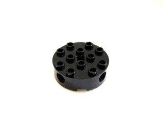 #6222 テクニック  ブロック 4x4  ラウンド  【黒】 /Brick 4x4 Round with Holes  :[Black]