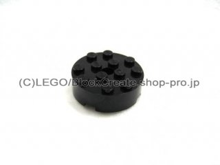 #87081 ブロック  4x4 ラウンド  【黒】 /Brick 4x4 Round with Pinhole and Snapstud  :【Black】