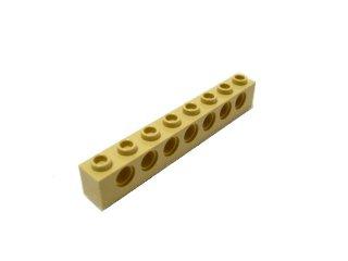 #3702 テクニック  ブロック 1x8 【タン】 /Technic Brick 1x8 with Holes :[Tan]