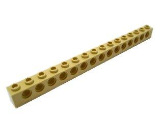 #3703 テクニック  ブロック 1x16 【タン】 /Technic Brick 1x16 with Holes :[Tan]