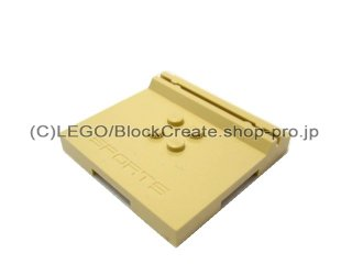 #45522 タイル 6x6x2/3 カードホルダー  【タン】 /Tile 6x6x2/3 with 4 Studs and Card-holder  :[Tan]