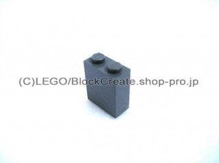 #3245 ブロック 1x1x2 十字軸ホルダー  【新濃灰】 /Brick 1 x 2 x 2 with Inside Axle Holder :[Dark Bluish Gray]