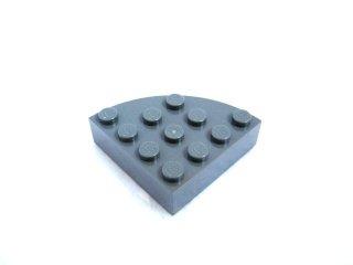 #2577 ブロック ラウンドコーナー 4x4 フルブロック 【新濃灰】 /Brick  4x4 Corner Round :【Dark Bluish Gray】