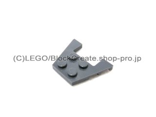 #48183 ウェッジプレート 3x4-1x2  【新濃灰】 /Wedge Plate 3x4 with Stud Notches :[Dark Bluish Gray]