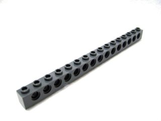 #3703 テクニック  ブロック 1x16 【新濃灰】 /Technic Brick 1x16 with Holes :[Dark Bluish Gray]