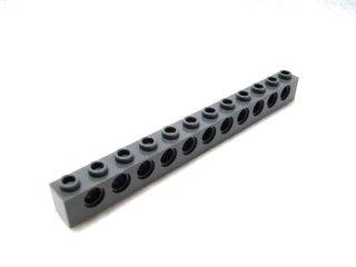 #3895 テクニック  ブロック 1x12 【新濃灰】 /Technic Brick 1x12 with Holes :[Dark Bluish Gray]