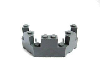 #6066 バルコニー 1/2 4x8x2 1/3  【新濃灰】 /Brick 4x8x2.333 Turret Top  :[Dark Bluish Gray]