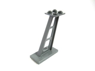 #4476 サポート 支柱 傾斜 5mm幅  【新濃灰】 /Support 2x4x5 Stanchion Inclined :[Dark Bluish Gray]