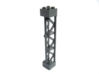 #95347 サポート 2x2x10  三角桁 縦  【新濃灰】 /Support 2x2x10 Girder Triangular Vertical  :[Dark Bluish Gray]