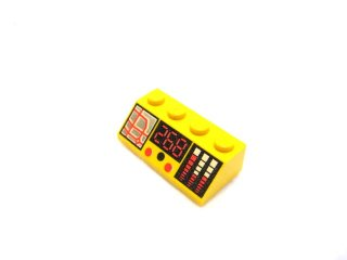 #3037 スロープ ブロック 45° 2x4 プリント  【黄色】 /Slope Brick 45° 2x4 with Cash Register and 286 Pattern :[Yellow]
