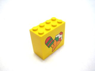 #30144 ブロック 2x4x3 (アイス) 【黄色】 /Brick 2x4x3 with Decoration  :[Yellow]