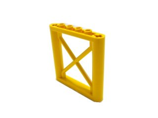 #64448 サポート 1x6x5 四角桁  【黄色】 /Support 1x6x5 Girder Rectangular  :[Yellow]