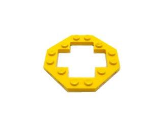 #30062 プレート 6x6 八角形 十字型抜き  【黄色】 /Plate 6x6 Octagonal Open Center :[Yellow]