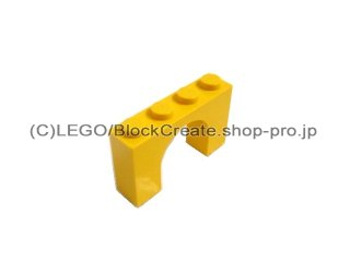 #6182 アーチ 1x4x2  【黄色】 /Arch 1x4x2  :[Yellow]