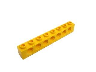 #3702 テクニック  ブロック 1x8 【黄色】 /Technic Brick 1x8 with Holes :[Yellow]