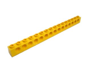 #3703 テクニック  ブロック 1x16 【黄色】 /Technic Brick 1x16 with Holes :[Yellow]