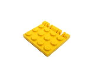 #44570  ヒンジ プレート 4x4 Wロックキャッチ  【黄色】 /Hinge Plate 4x4 Locking  :[Yellow]
