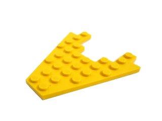 #6104 ウィングプレート 8x8  【黄色】 /Wing 8x8 with 3x4 Cutout  :[Yellow]
